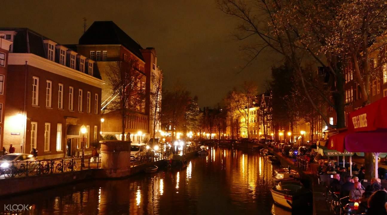 阿姆斯特丹运河夜间巡游