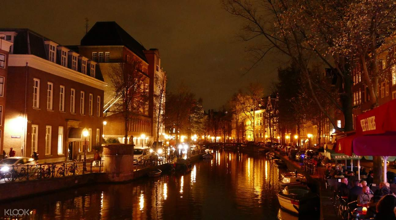 canals of amsterdam night