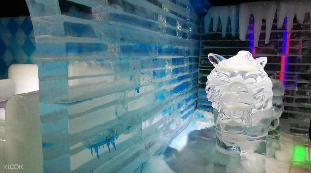 越美冰雪大世界動物冰雕