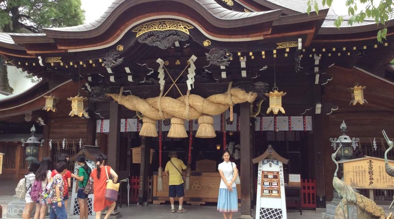 kushida shrine torii gates