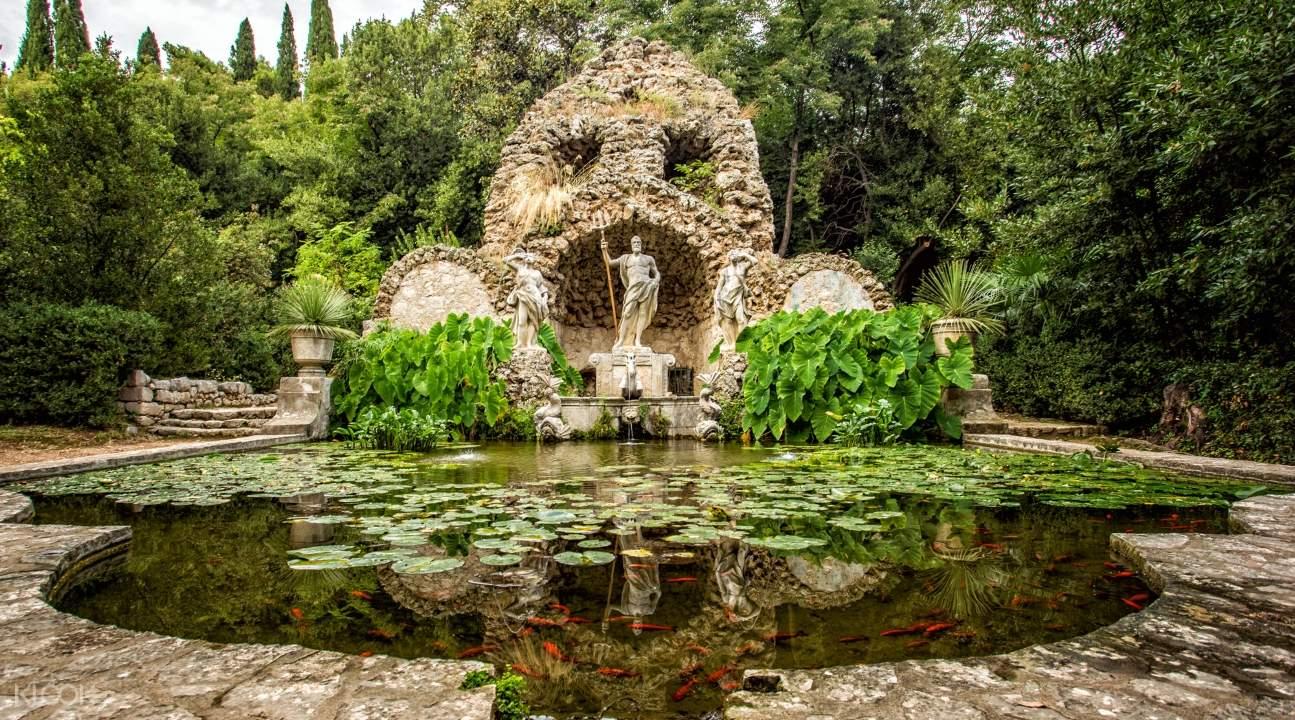 the Trsteno Arboretum in Dubrovnik
