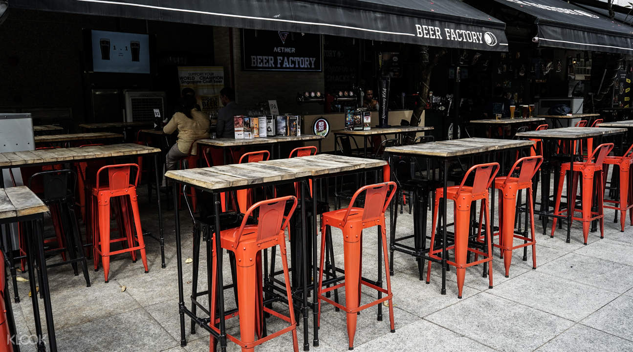 open air bar beer factory raffles singapore