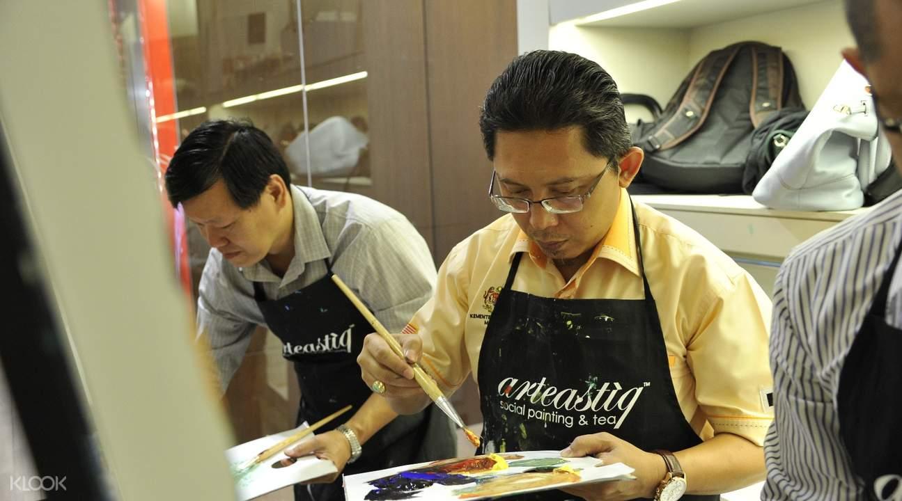 新加坡Art Jam自助绘画课