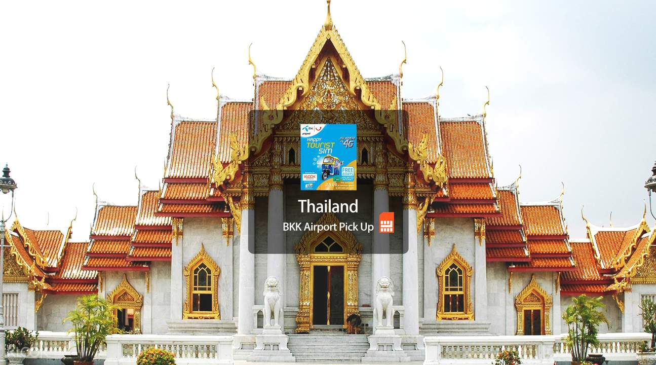 4G SIM Card (DTAC Counter at BKK/DMK Airports Pick Up) for Thailand