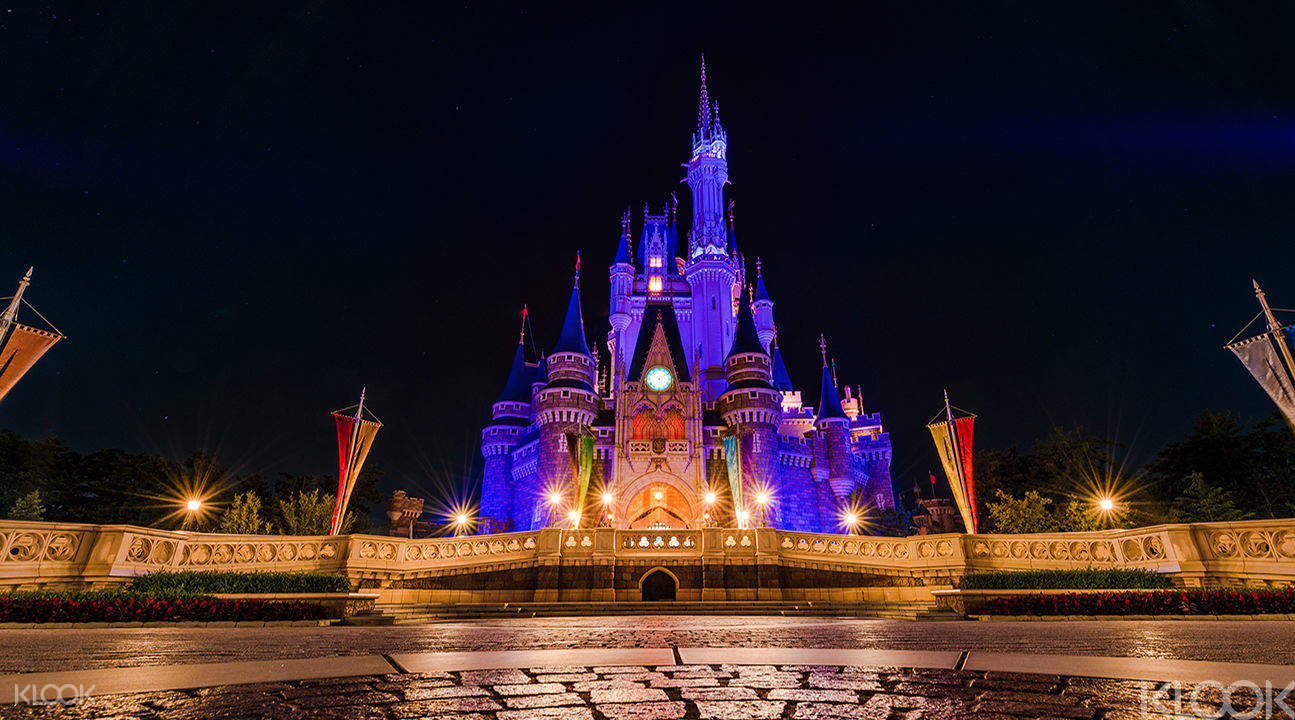 Illuminated Cinderella Castle