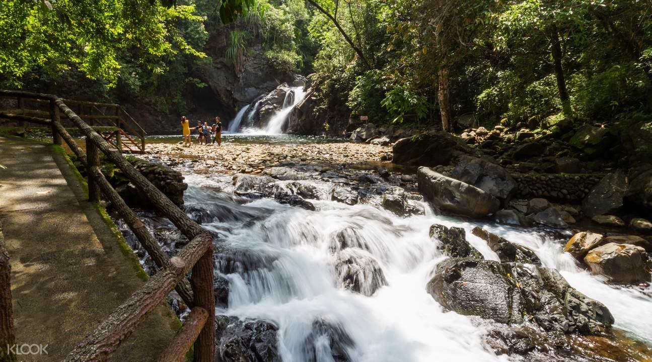 Waterfalls and natural pools