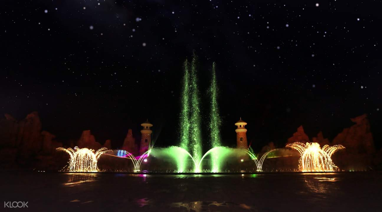 Vinpearl Land musical water fountain