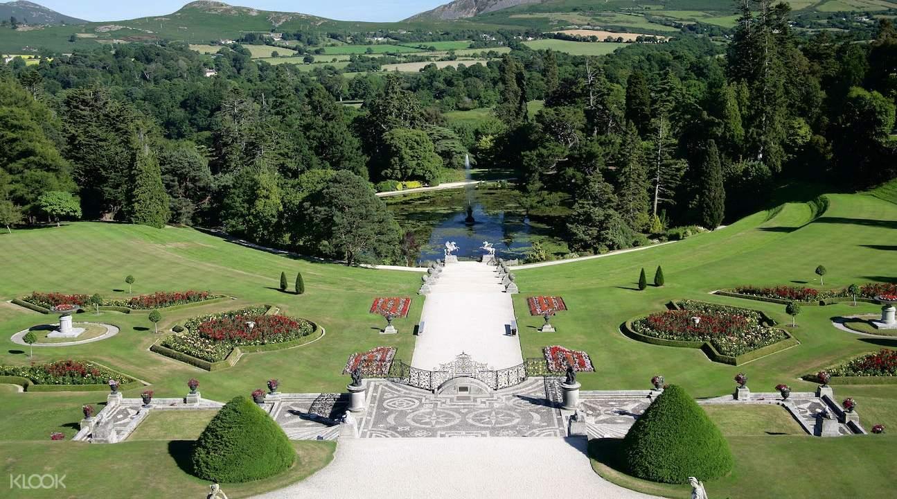 glendalough valley, powerscourt gardens from dublin, powerscourt gardens trip, powerscourt gardens tour, powerscourt gardens admission