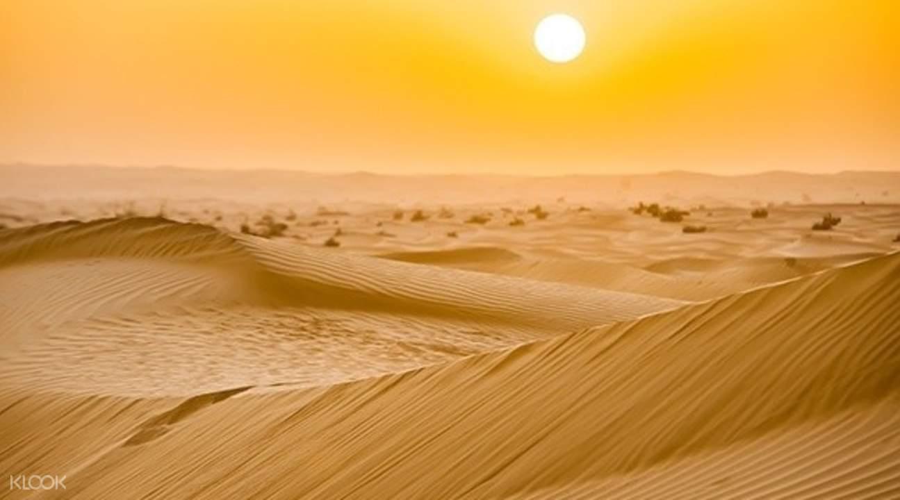 迪拜清晨沙漠