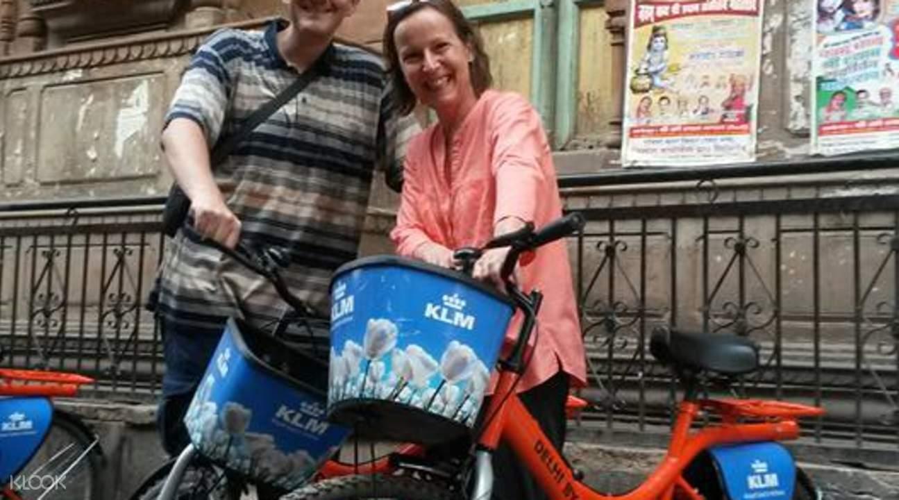 haveli morning cycling tour delhi