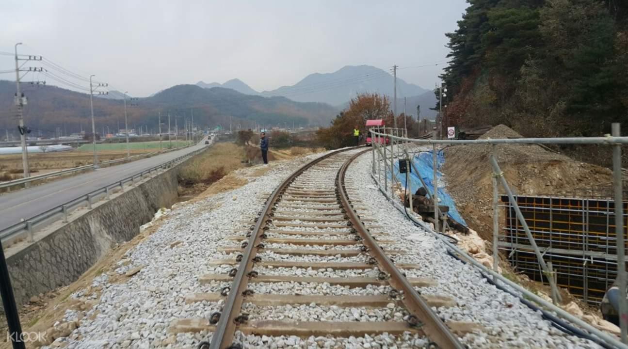 江村铁路自行车