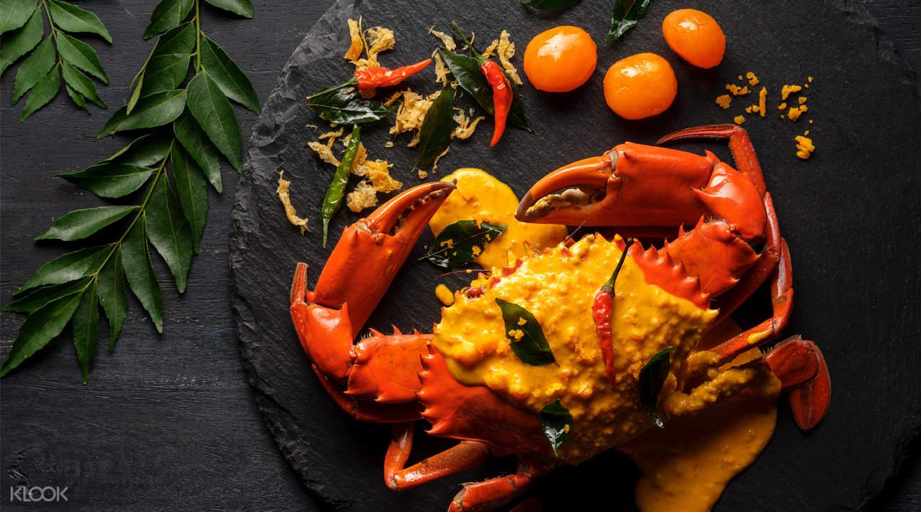 新加坡武吉士濱海賓樂雅酒店美芝路Ginger 鹹蛋螃蟹