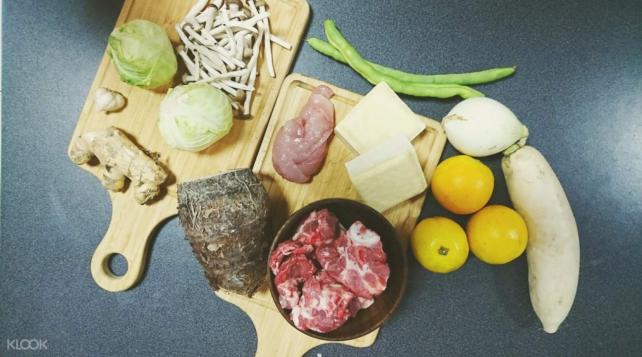 traditional taiwanese cooking class taichung taiwan fresh ingredients