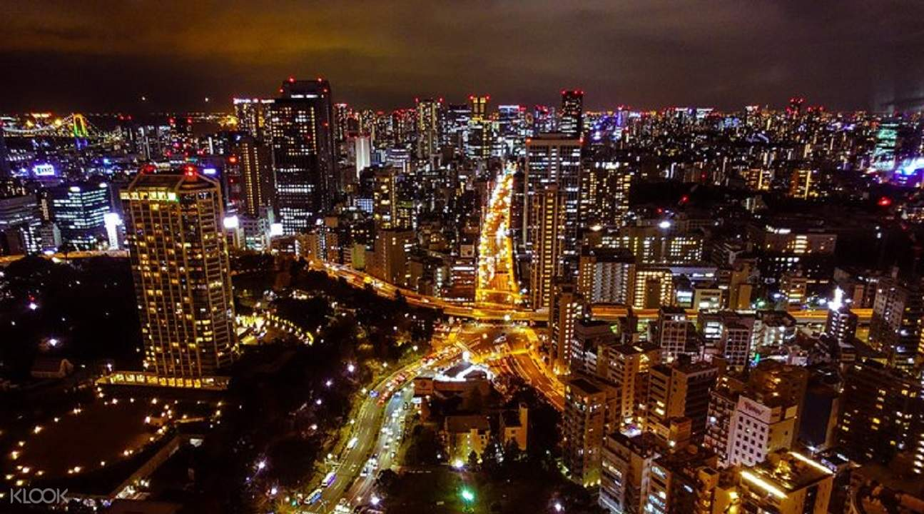 東京鐵塔俯瞰的夜景
