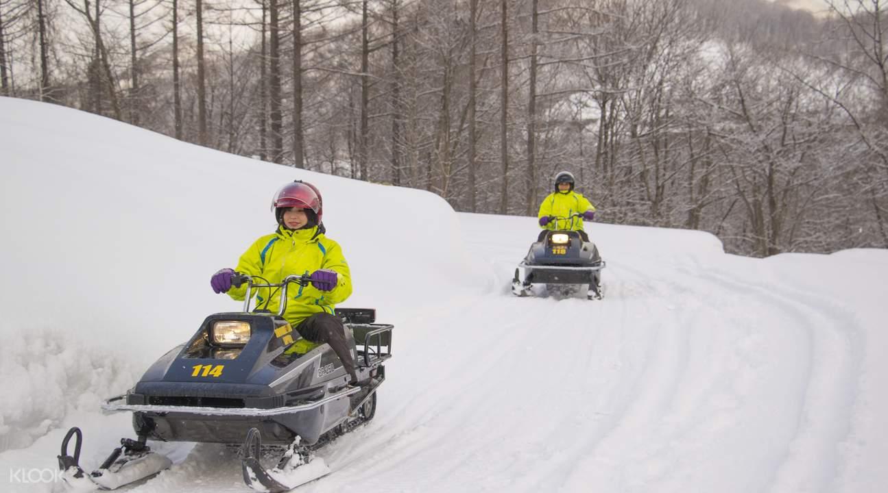 sapporo snowmobile experience