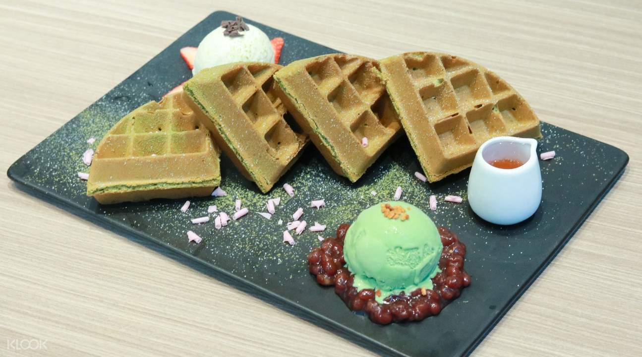 matcha waffle and ice cream zzang causeway bay hong kong