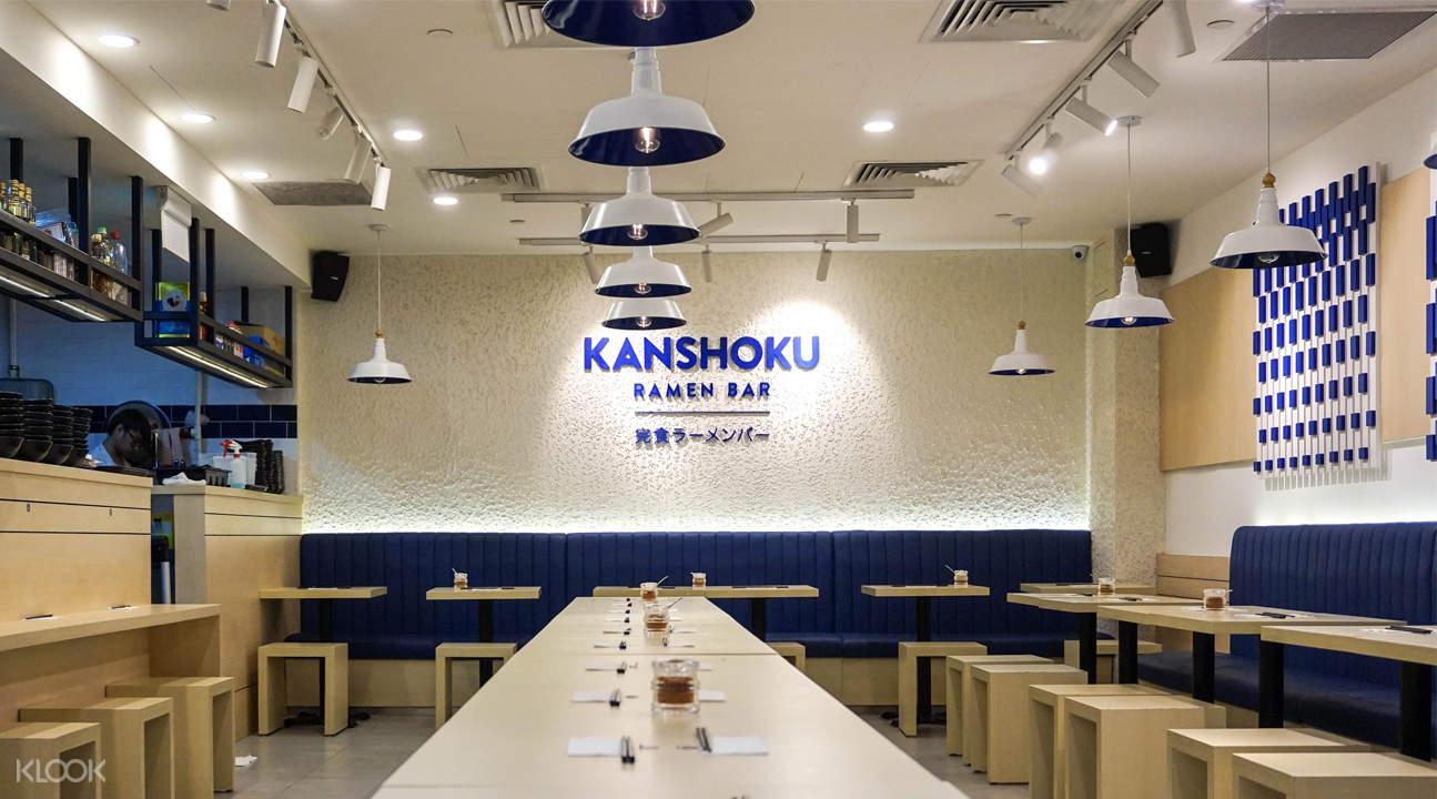 新加坡Kanshoku Ramen装潢