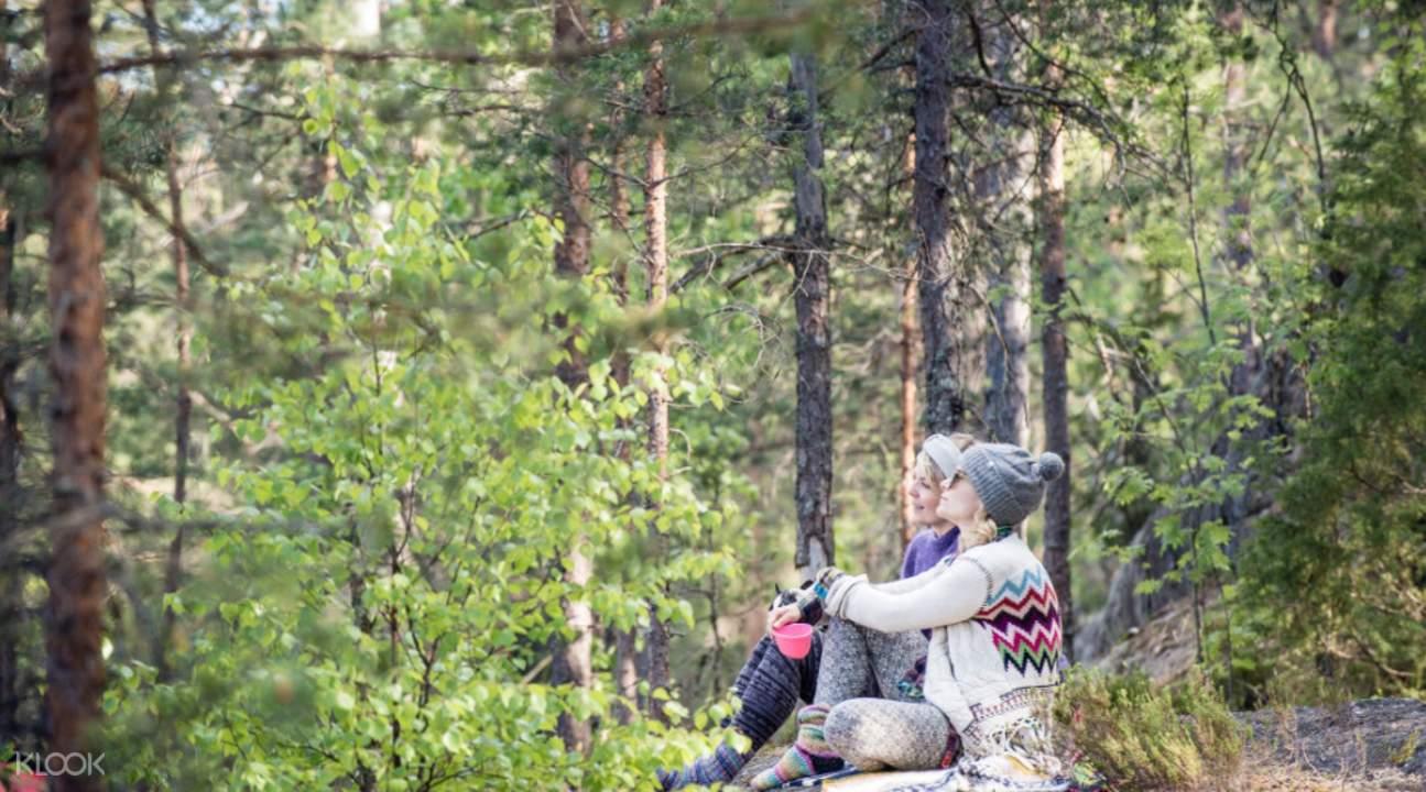 haltia nature center hike helsinki layover