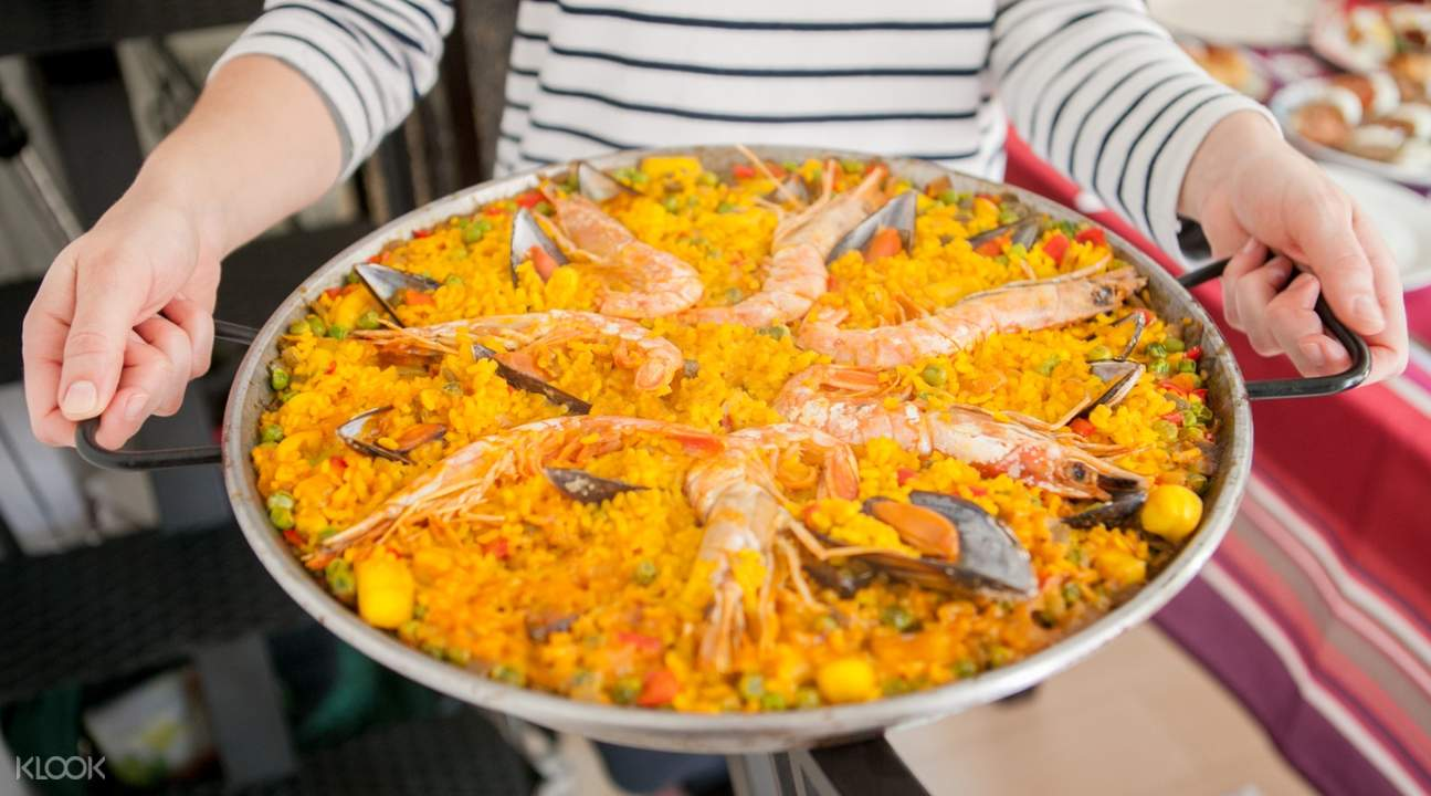 Paella and Sangria Cooking Workshop Madrid Spain fresh ingredients