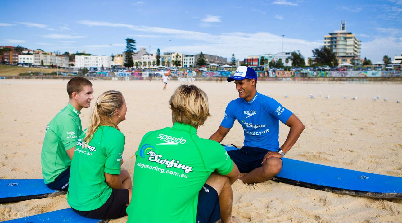 bondi family surf lesson