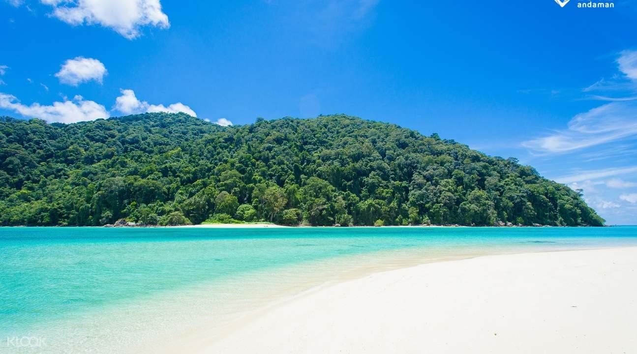 surin islands reef white sand