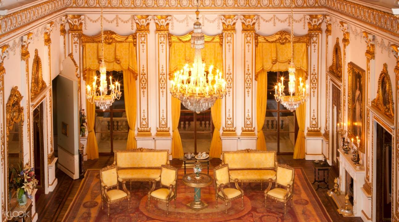 a miniature of a room in Buckingham Palace