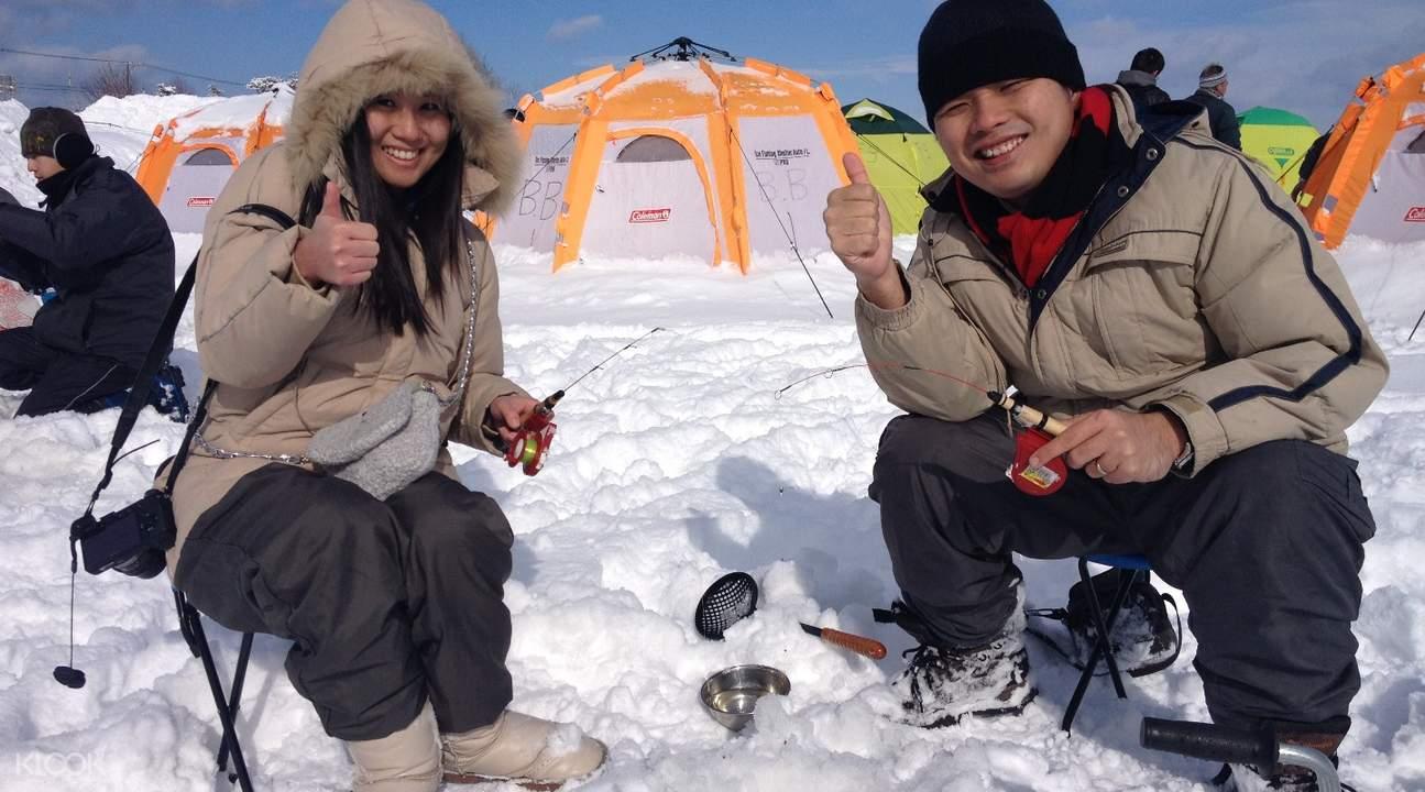 茨戶川冰釣小公魚體驗