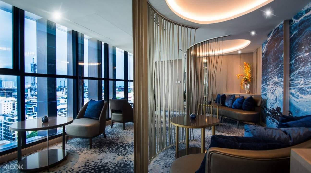 芭提雅海灘邁特海灘酒店the living貴賓酒廊自助下午茶