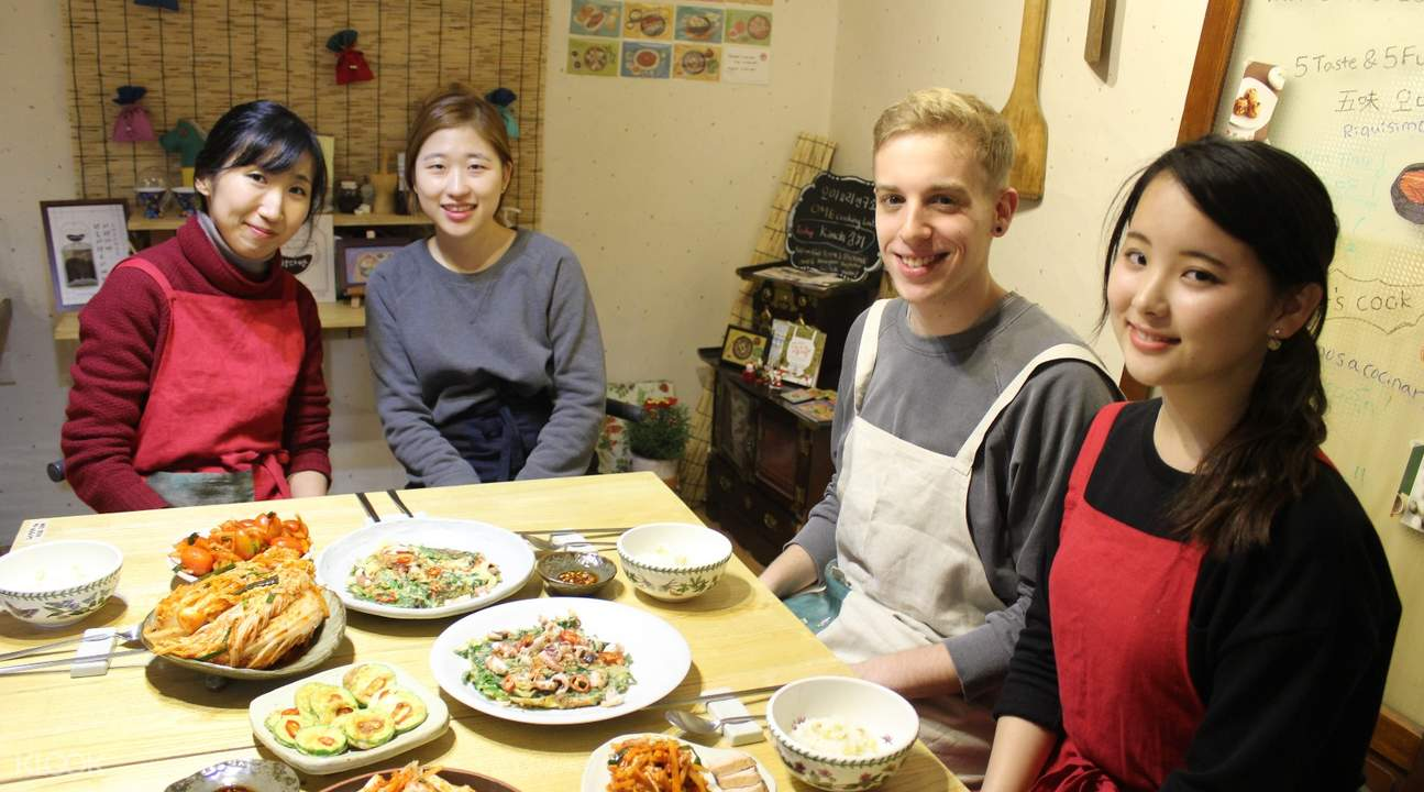 korean cooking class with market tour by ome cooking lab seoul south korea