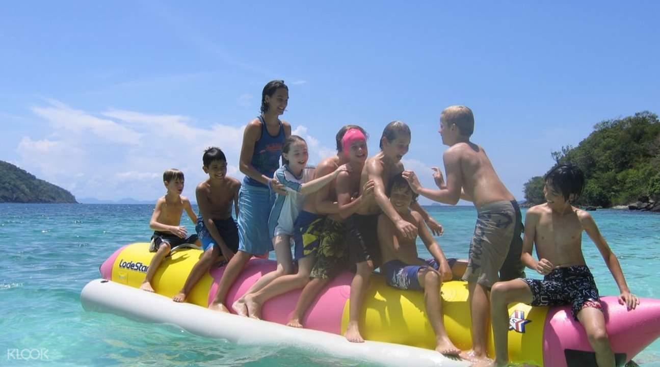珊瑚島一日遊 香蕉船
