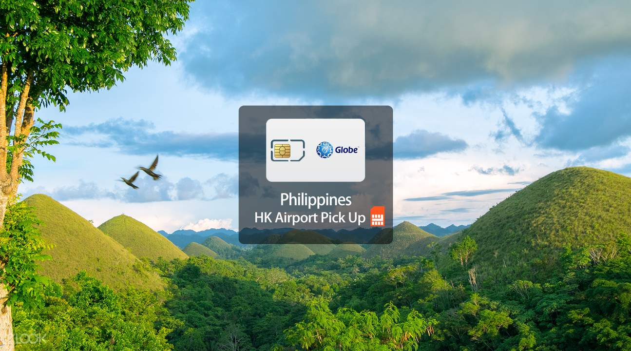4G/3G SIM Card (HK Airport Pick Up) for the Philippines from Globe