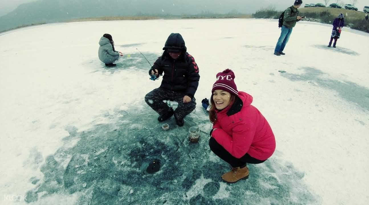 韩国春川钓冰鱼