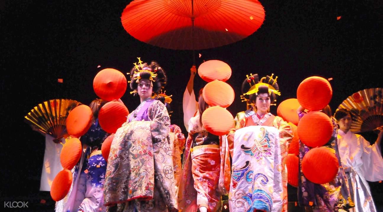Oiran-Geisha Night Dance Show at Roppongi Kaguwa