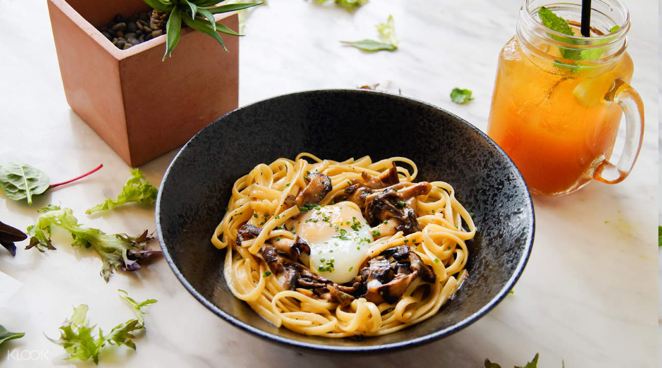 signature mushroom pasta gallery and co cafe city hall singapore