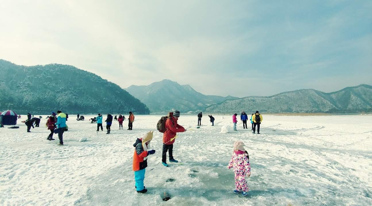 韓國春川釣冰魚
