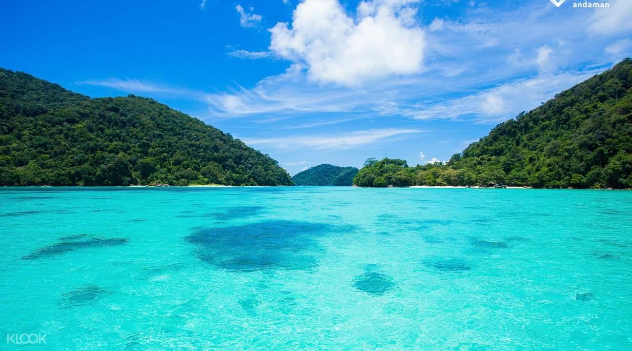 surin islands white sand