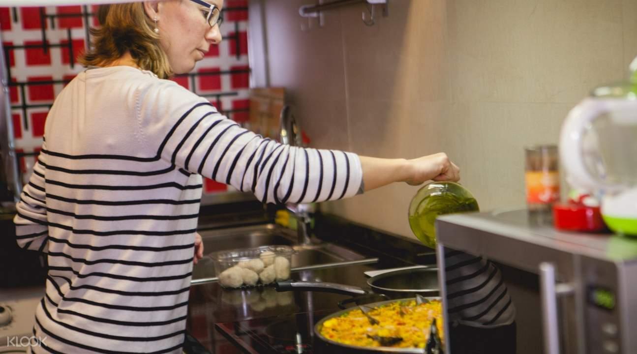 马德里家庭美食烹饪课