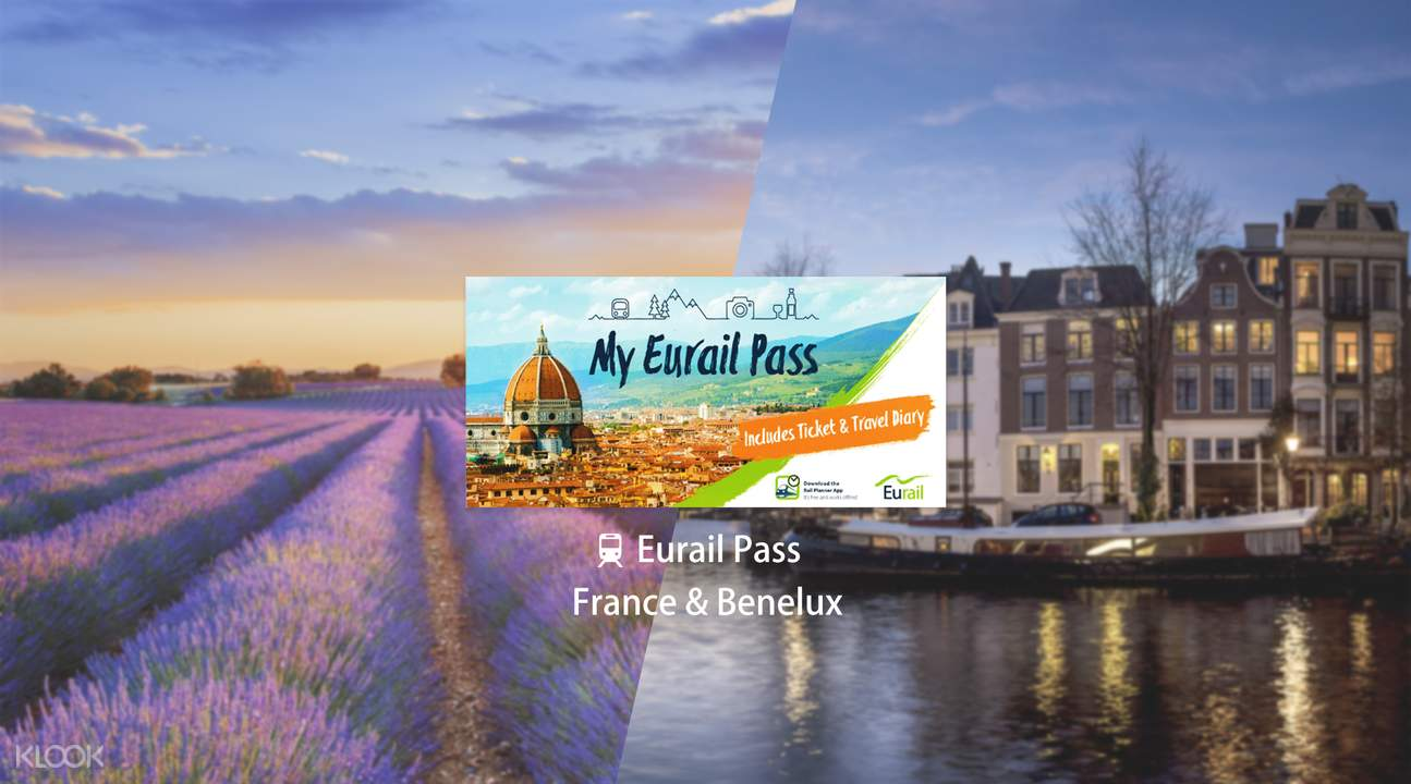 Eurail Pass for France & Benelux (4, 5, 6, 8 or 10 Days)