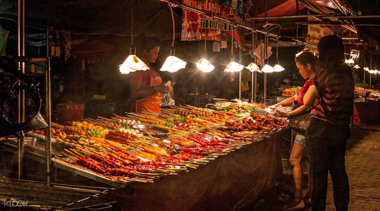 different stalls at the karabi night market