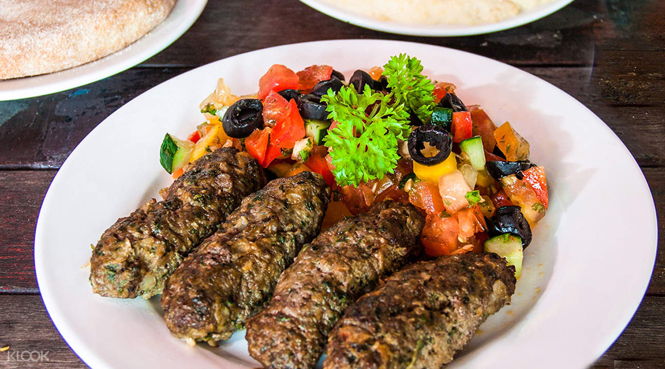 beef kebab set pita and olives city hall singapore