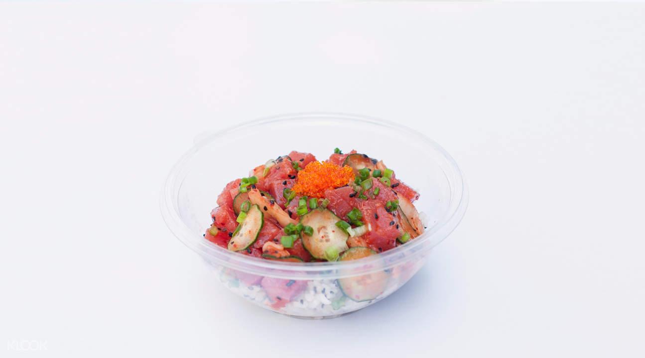 sweetfish poke city hall singapore kimchi bowl