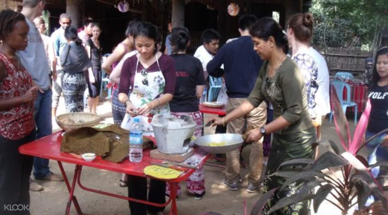 cooking class market tour bagan