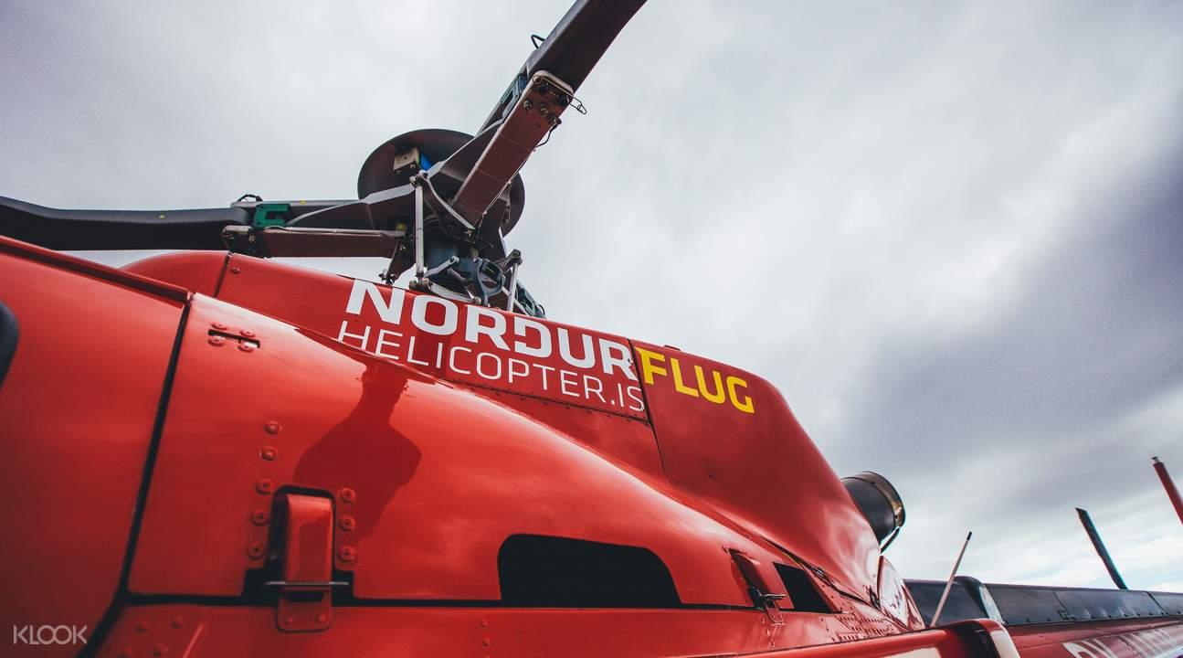 冰岛直升机观光  飞跃雷克雅未克