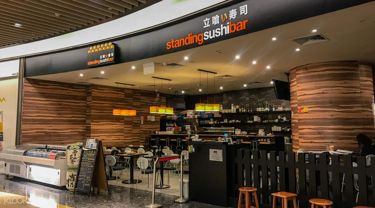 Standing Sushi Bar in Marina Bay and Raffles Place