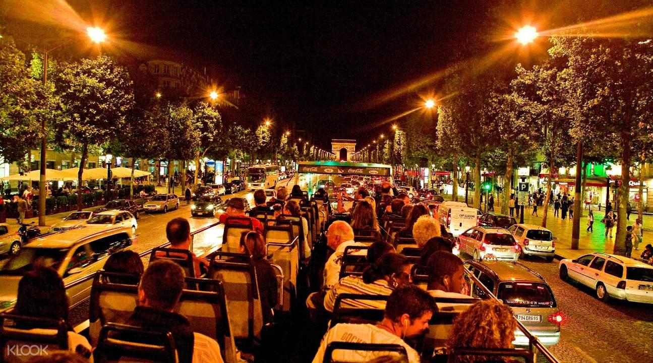 paris evening tour open top bus