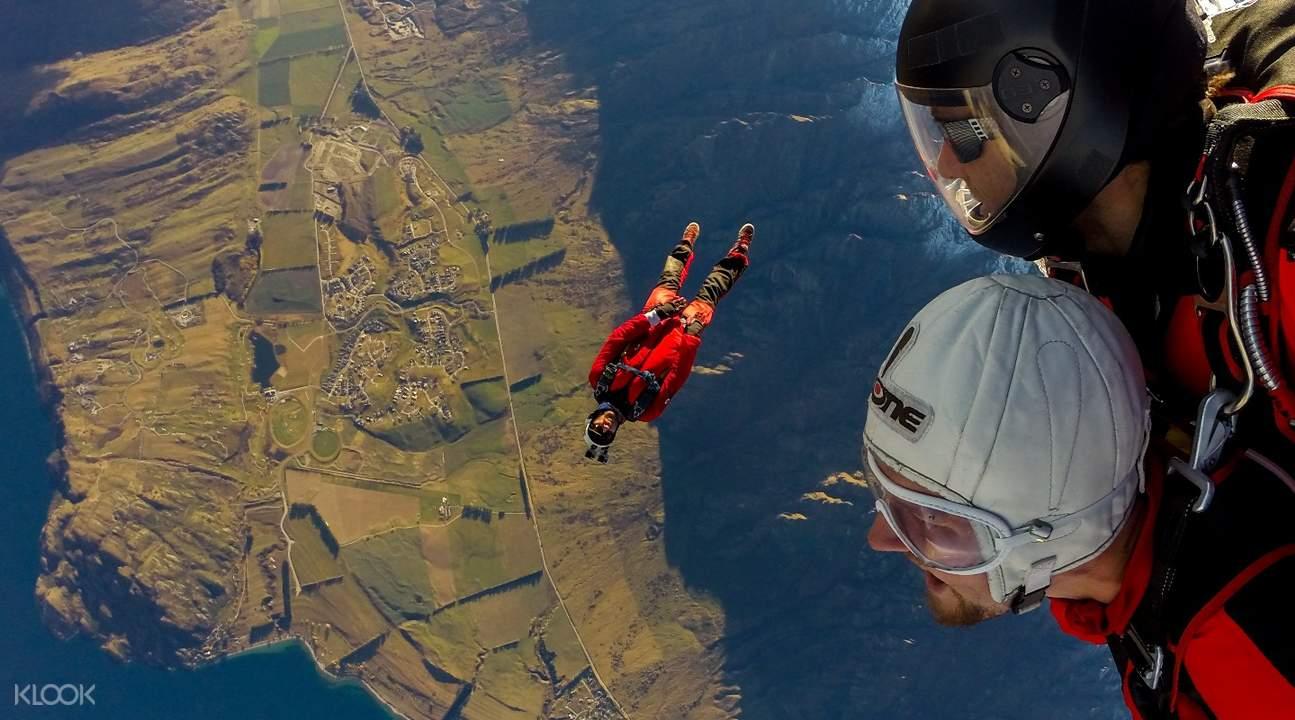 紐西蘭皇后鎮NZONE高空跳傘