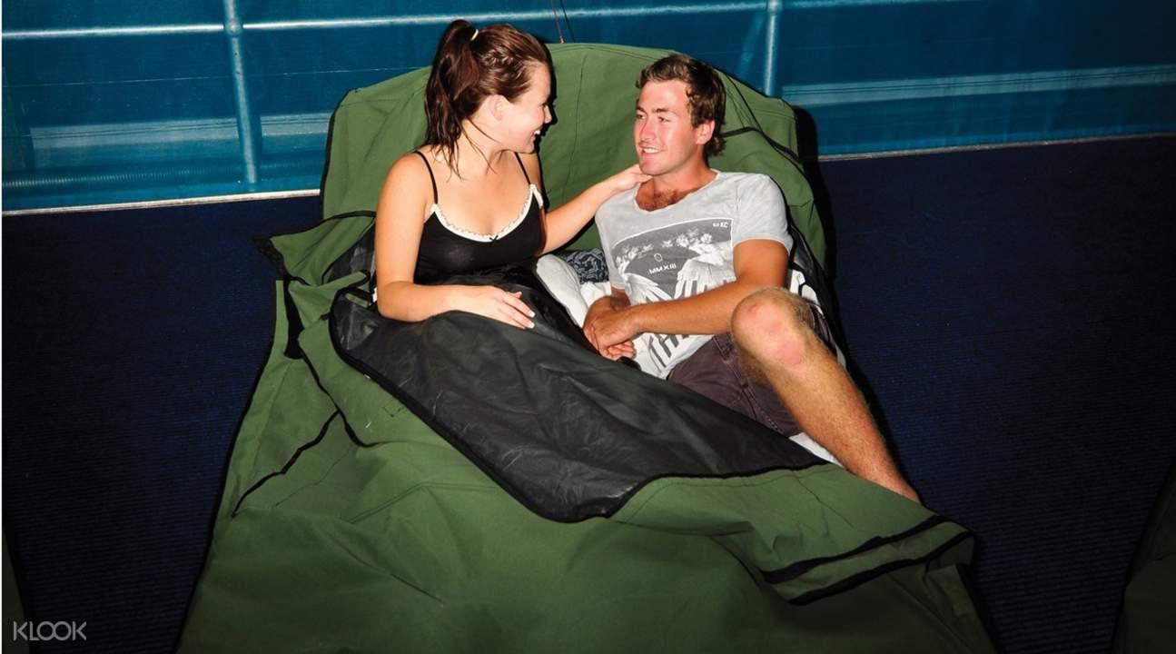 sleeping swag great barrier reef