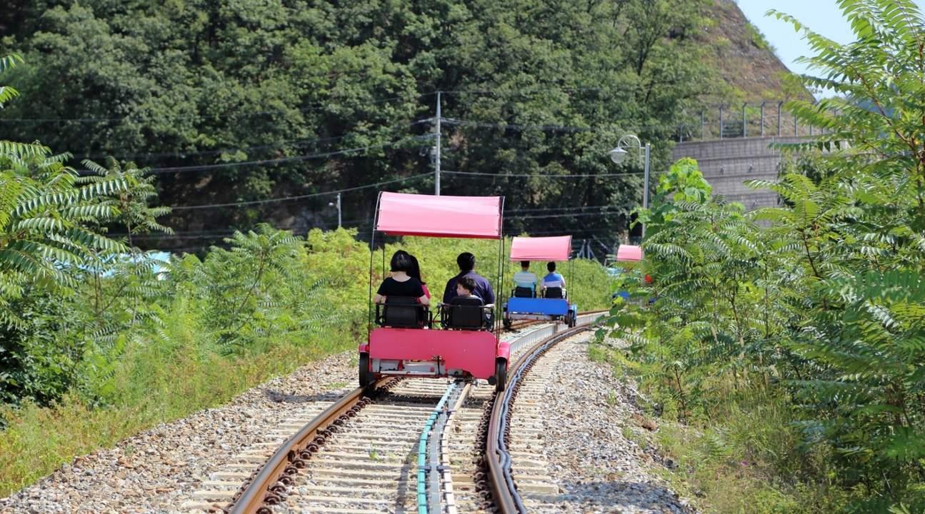 Gangchon or gapyeong Rail bike track