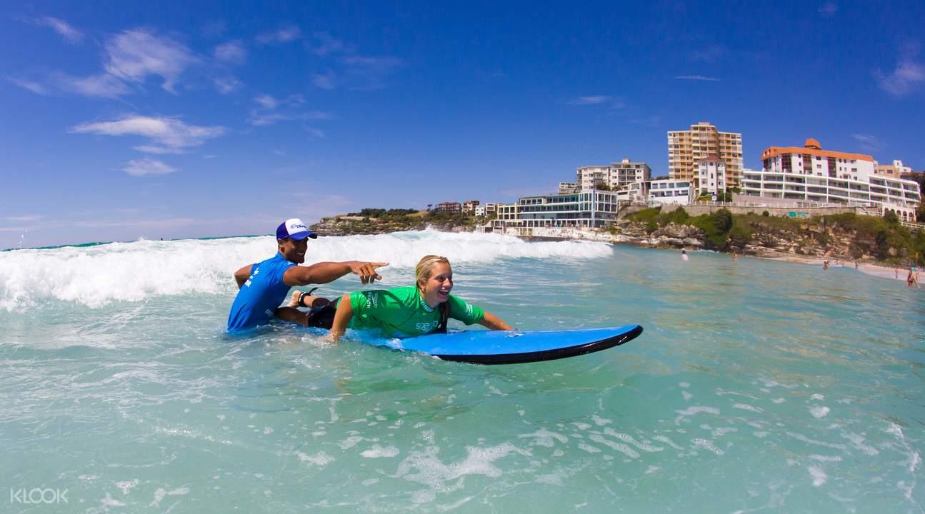 bondi surfing class