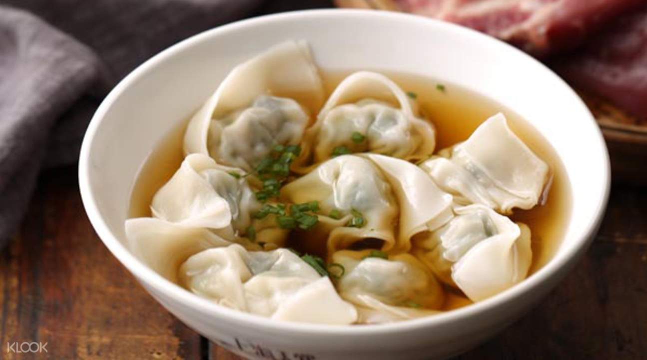 shanghai lane pork and pak choy dumplings